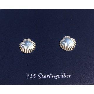 Ohrstecker Mini Muschel 925 Silber