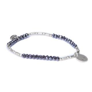 biba Armband Crystal grau mit Metall silber matt