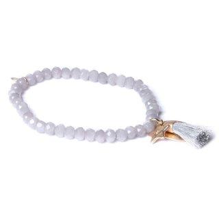 biba Armband Crystal grau mit STERNCHEN gold matt