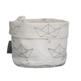 KRASILNIKOFF Brotkorb PAPIERBOOT / BIG BASKET PAPER BOAT WHITE