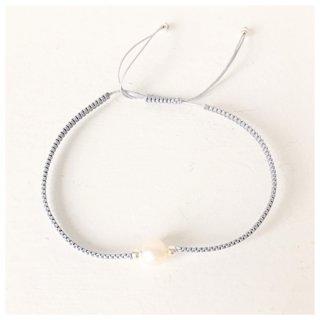 Armband mit echter Perle GRAU