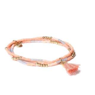 biba Armband dreifach mit Quaste rosé-beige