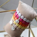 biba Armband mit silberfarbenem Anhänger