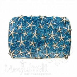 Gürtelschnalle RAINING STARS GLITTER BLUE