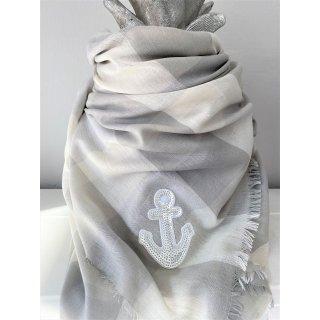 Tolles Tuch aus Viscose mit ANKER grau