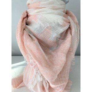 Tolles Tuch aus Viscose mit STERNEN rosa