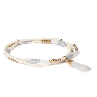 biba Armband dreifach mit Quaste weiß