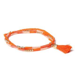 biba Armband dreifach mit Quaste orange