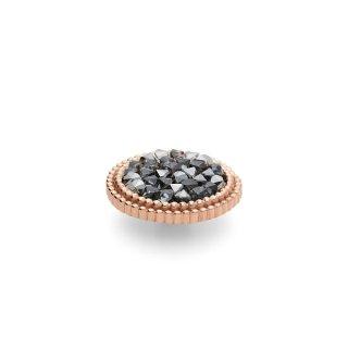 QUDO Ringaufsatz FABERO flat roségold 15 mm METALLIC SILVER
