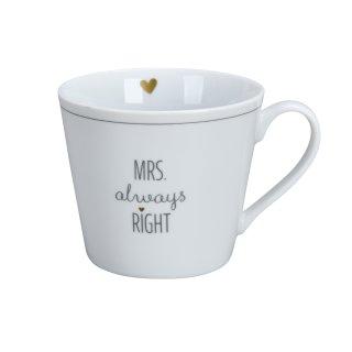 KRASILNIKOFF HAPPY CUP / Henkelbecher MRS. ALWAYS RIGHT