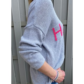 Pullover HAPPY Grau
