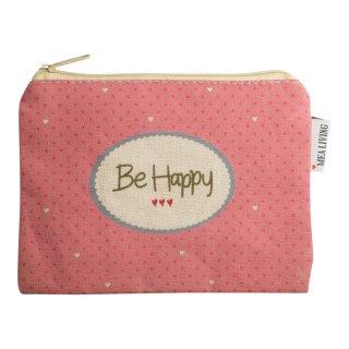 """Kosmetiktasche klein """"Be Happy"""""""