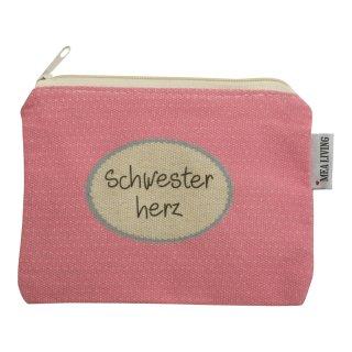 """Kosmetiktasche klein """"Schwesterherz"""""""