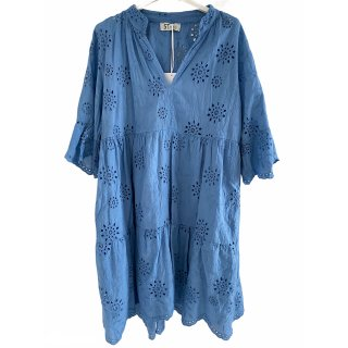 Tolles Kleid mit Lochmuster BLAU