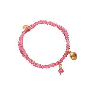 biba Armband doppelt rosa goldfarbig