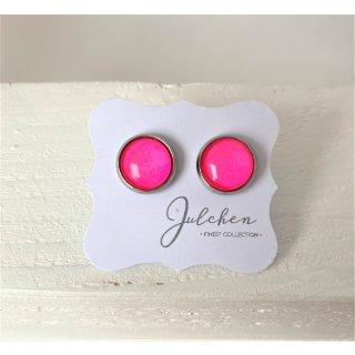 JULCHEN Ohrstecker Neon-Pink