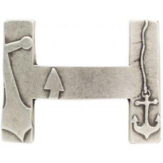 Gürtelschnalle H mit Anker