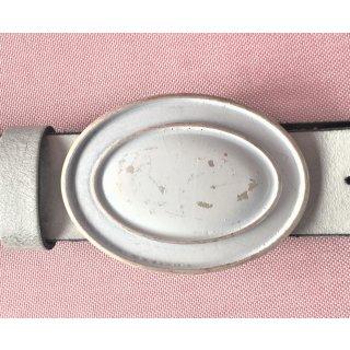 Gürtelschnalle WHITE OVAL