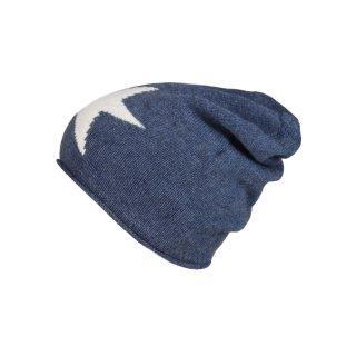 ZWILLINGSHERZ Mütze Stern blau