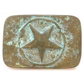 Gürtelschnalle ONE STAR türkis antik