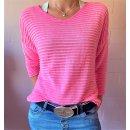 Lässiger Pullover in Pink