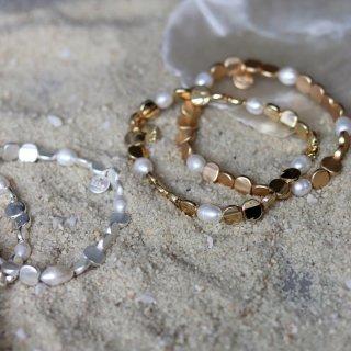 biba Armband Süßwasserperlen mit Metall verschiedene FARBEN
