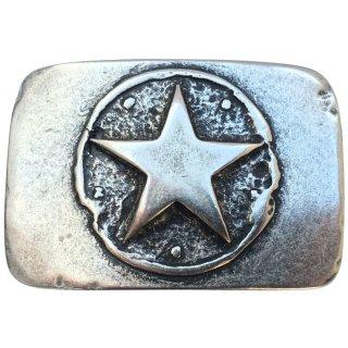 Gürtelschnalle ONE STAR silber