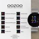 OOZOO Smartwatch BLACK/SILVER Silikon