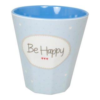Becher klein BE HAPPY blau