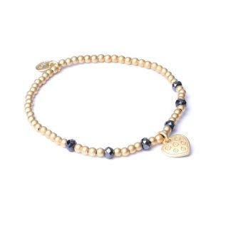 biba Armband HERZ Metall goldfarben