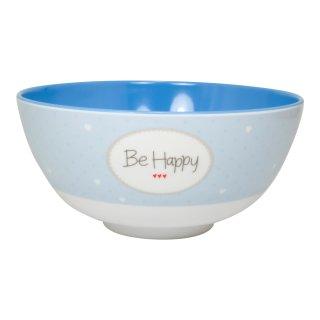 Müslischale BE HAPPY blau