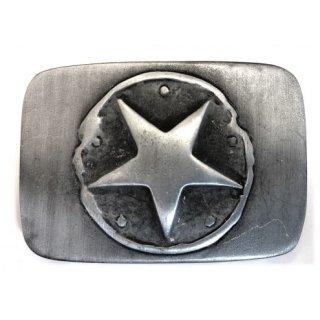 Gürtelschnalle ONE STAR silver black