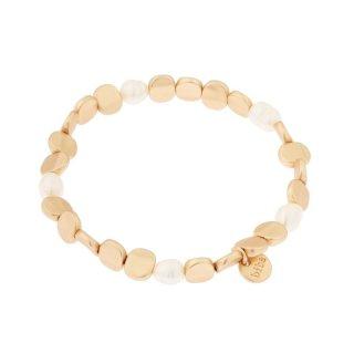 Metall gold mit Perle in perlweiß (ausverkauft)